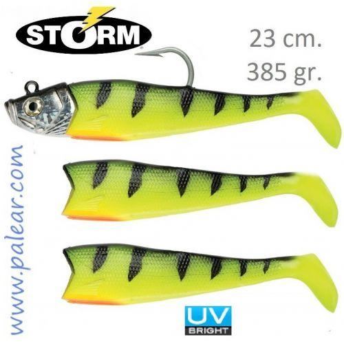 Giant Jigging Shad 23cm 385gr Wildeye glow Storm