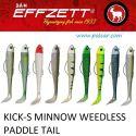 EFFZETT® KICK-S MINNOW WEEDLESS PADDLE TAIL 90MM JIGH. 12GR. DAM