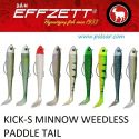 150mm Jigh. 55gr. Kick-s Minnow Weedless Paddle Tail Effzett DAM