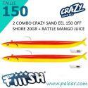 Crazy Sand Eel 220 Combo - Off Shore -60gr Mango Juice