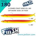 Crazy Sand Eel 220 Combo - Off Shore -60gr Mango Juice
