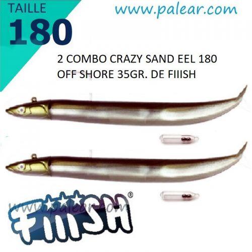 Crazy Sand Eel 220 Combo - Off Shore -60gr kaki