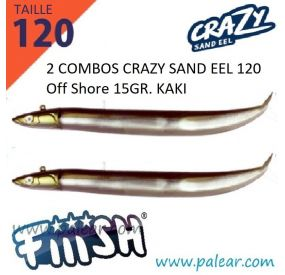 Black Minnow 120 - Combo - Off Shore - 25g - Blanc - JH Rouge