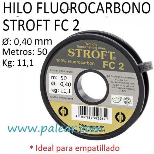 HILO FLUOROCARBONO STROFT FC 2 - 35MM 50 METROS