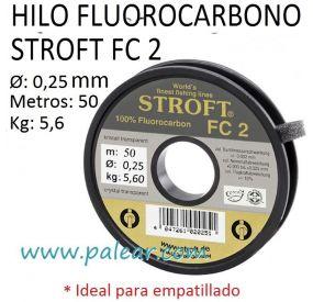 HILO FLUOROCARBONO STROFT FC 2 - 25MM 50 METROS