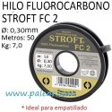 HILO FLUOROCARBONO STROFT FC 2 - 30MM 50 METROS