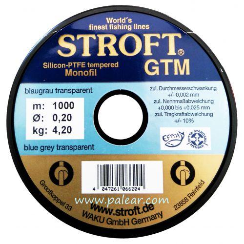 AZUL GRIS TRANSPARENTE 0.20MM GTM STROFT SILICON PTFE TEMPERED MONOFILAMENTO 1000M