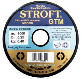 AZUL GRIS TRANSPARENTE 0.25MM GTM STROFT SILICON PTFE TEMPERED MONOFILAMENTO 1000M