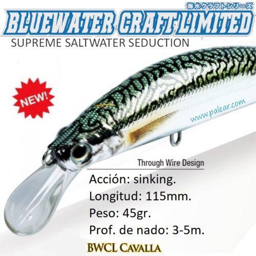 Cavalla Fast Sinking 115mm 45gr Bluewater Craft Limited Zerek