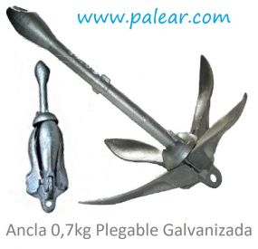 Ancla 0,7kg Plegable Galvanizada
