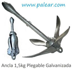 Ancla 1,5kg Plegable Galvanizada