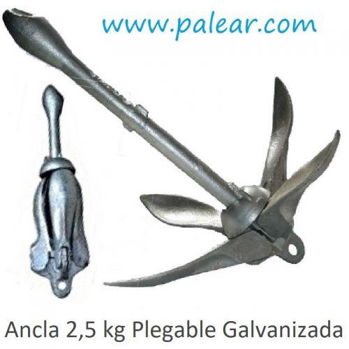Ancla 2,5 kg Plegable Galvanizada