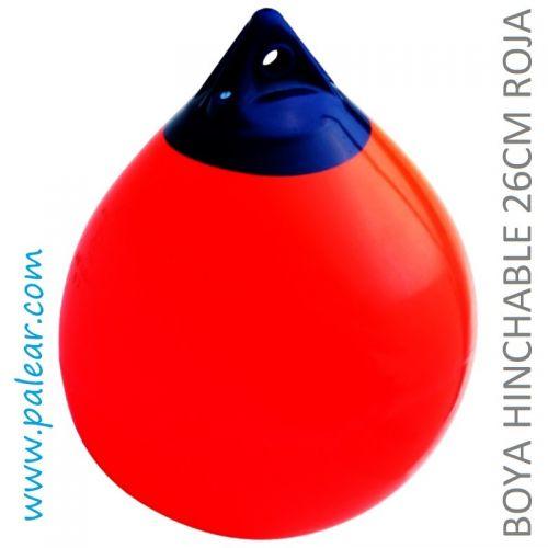 Boya hinchable 26 cm roja