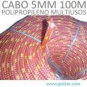 5 mm 100 metros Polipropileno Multiusos Cabo