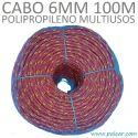 6 mm 100 metros Polipropileno Multiusos Cabo
