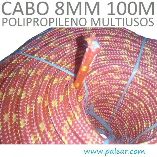8 mm 100 metros Polipropileno Multiusos Cabo