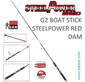 G2 Boat Stick Steelpower Red Dam