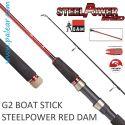 G2 Boat Stick Steelpower Red Dam