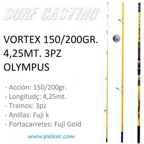 Vortex 150/200gr. 4,25mt. 3pz Olympus