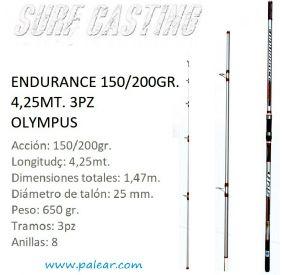 Endurance 150/200gr. 4,25mt. 3pz Olympus