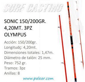 Sonic 150/200gr. 4,20mt. 3pz Olympus