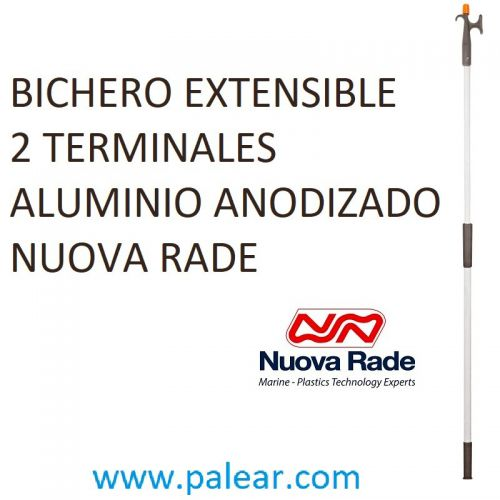 Bichero Extensible 2 Terminales Aluminio Anodizado Nuova Rade