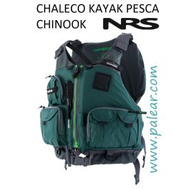 Chinook Chaleco Kayak Pesca NRS Verde