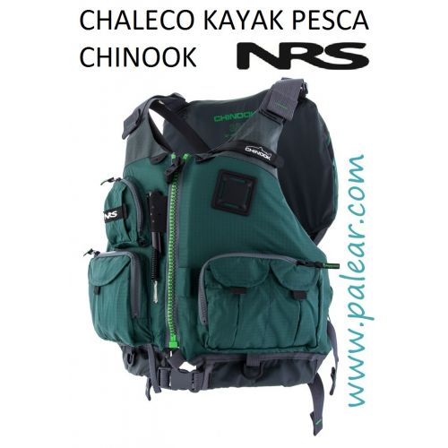 Chinook Chaleco Kayak Pesca NRS Verde