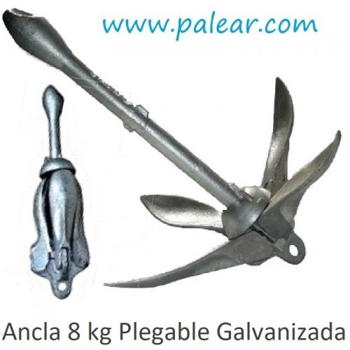 Ancla 8 kg Plegable Galvanizada