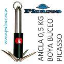 Ancla 0,5 kg Boya Buceo Picasso