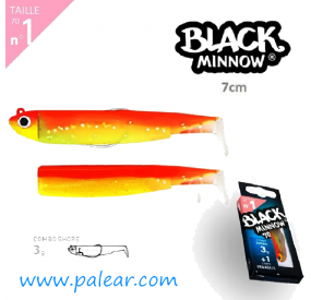 Black Minnow 70 Combo Shore 3g + 1 Corps Orange/J Nº1 Fiiish