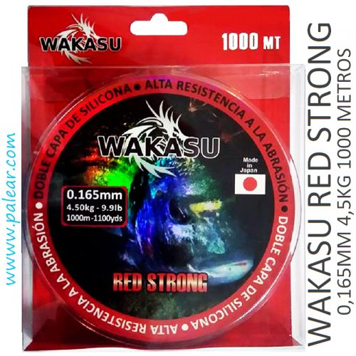 0.165 mm 4,5 kg Wakasu Red Strong 1000 m