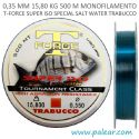 0,35 mm 15,80 kg 500 m Monofilamento T-Force Super Iso Special Salt Water Trabucco