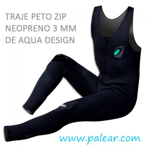 Traje peto de neopreno Zip 3 mm de Aqua Design