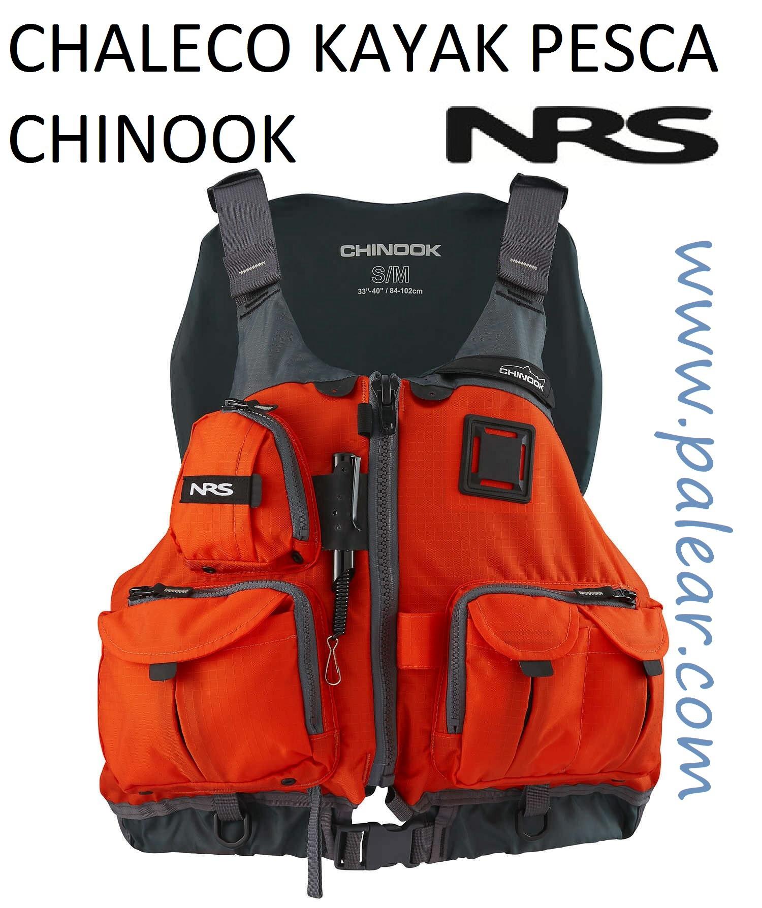 chaleco kayak pesca chinook de nsr Naranja rojo