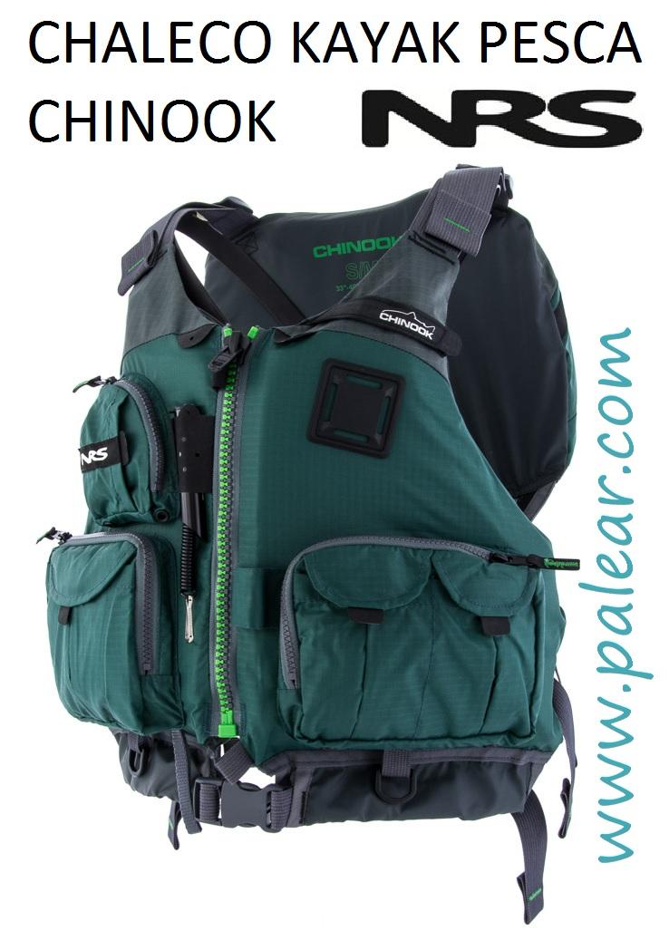 chaleco para kayak de pesca chinook nrs verde